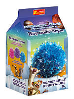 """Детский набор для опытов """"Волшебные кристаллы. Ледниковый период. Синий"""""""