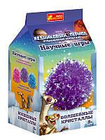 """Детский набор для опытов """"Волшебные кристаллы. Ледниковый период. Фиолетовый"""""""