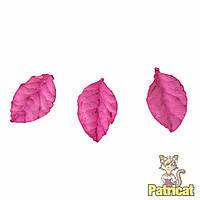 Малиновые листочки бумажные листики из бумаги 2 см 10 шт/уп