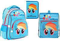 """Комплект школьный. Рюкзак """"My Little Pony"""" LP17-518S, Пенал и Сумка, ТМ  KITE"""