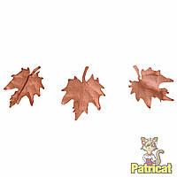 Кофейные кленовые листочки листья клена бумажные листики из бумаги 16 мм 10 шт/уп