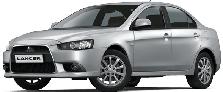 Чехлы на Mitsubishi Lancer X Sedan (1.6) с 2007 года до этого времени