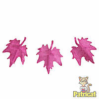 Малиновые кленовые листочки листья клена бумажные листики из бумаги 16 мм 10 шт/уп