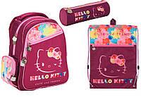 "Комплект школьный. Рюкзак ""Hello Kitty"" НK17-520S, Пенал и Сумка, ТМ  KITE"
