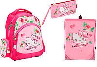 "Комплект школьный. Рюкзак ""Hello Kitty"" НK17-521S, Пенал и Сумка, ТМ  KITE"