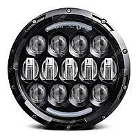 FB-HL105B Светодиодные LED фары 7 дюймов (Нива, УАЗ 469, ГАЗ 24, ВАЗ 2101, Хаммер, FJ Cruiser, w463, мотоцикл) чёрный