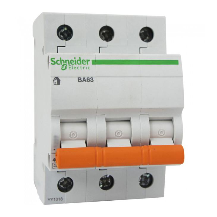Выключатель автоматический Schneider Electric 63A BA63 трёхполосный