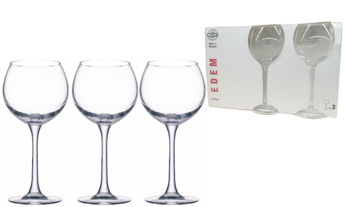 Набор бокалов для вина Эдем 210мл. 3шт