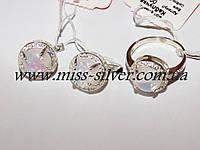 Ювелирный гарнитур с белым опалом Кира, фото 1