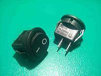 Кнопочный выключатель, Клавиша круглая, 2 контакта с фиксацией