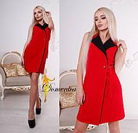 Платье -пиджак Ткань барби костюмка класса люксРазмер единый С-М(21099)