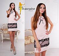 Платье Ткань трикотаж джерси Вставки французское кружево Сзади на потайной молнии Размер единый С-М(21100)