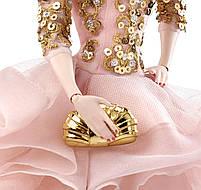 Коллекционная кукла Барби Блестящее и золотое платье для коктейля / Blush Gold Cocktail Dress Barbie Silkstone, фото 5