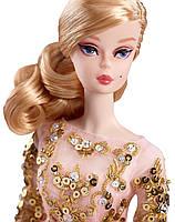 Коллекционная кукла Барби Блестящее и золотое платье для коктейля / Blush Gold Cocktail Dress Barbie Silkstone, фото 2