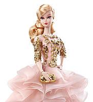 Коллекционная кукла Барби Блестящее и золотое платье для коктейля / Blush Gold Cocktail Dress Barbie Silkstone, фото 3