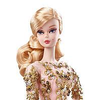 Коллекционная кукла Барби Блестящее и золотое платье для коктейля / Blush Gold Cocktail Dress Barbie Silkstone, фото 4
