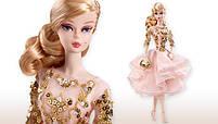 Коллекционная кукла Барби Блестящее и золотое платье для коктейля / Blush Gold Cocktail Dress Barbie Silkstone, фото 6