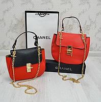 Клатч Хлое Chloe красно-черный и красный