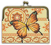 """Набор для вышивки бисером """"Заготовка Клатч """"Золотая бабочка"""""""