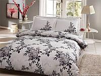 Двуспальное евро постельное белье TAC Lorca Grey Сатин-Delux