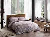 Двуспальное евро постельное белье TAC Grisel Lilac Сатин-Delux