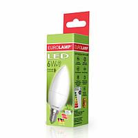 LED Лампа EUROLAMP ЕКО Свеча 6W E14 4000K