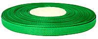 Лента репсовая №223 зеленая  (0.6 см х 25 ярдов)