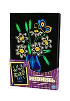 Картина из ниток. Изонить 'Цветы в вазе' (IZN-01-01)