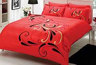 Двуспальное евро постельное белье TAC Tango Red Сатин-Delux