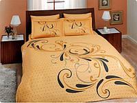 Двуспальное евро постельное белье TAC Tango Gold Сатин-Delux