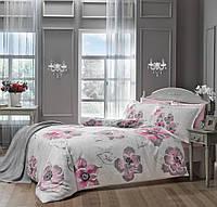 Двуспальное евро постельное белье TAC Peony Pink Сатин-Delux