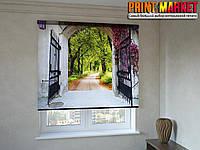 Рулонные шторы с фотопечатью ворота
