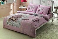 Двуспальное евро постельное белье TAC Pavia Lilac Сатин-Delux