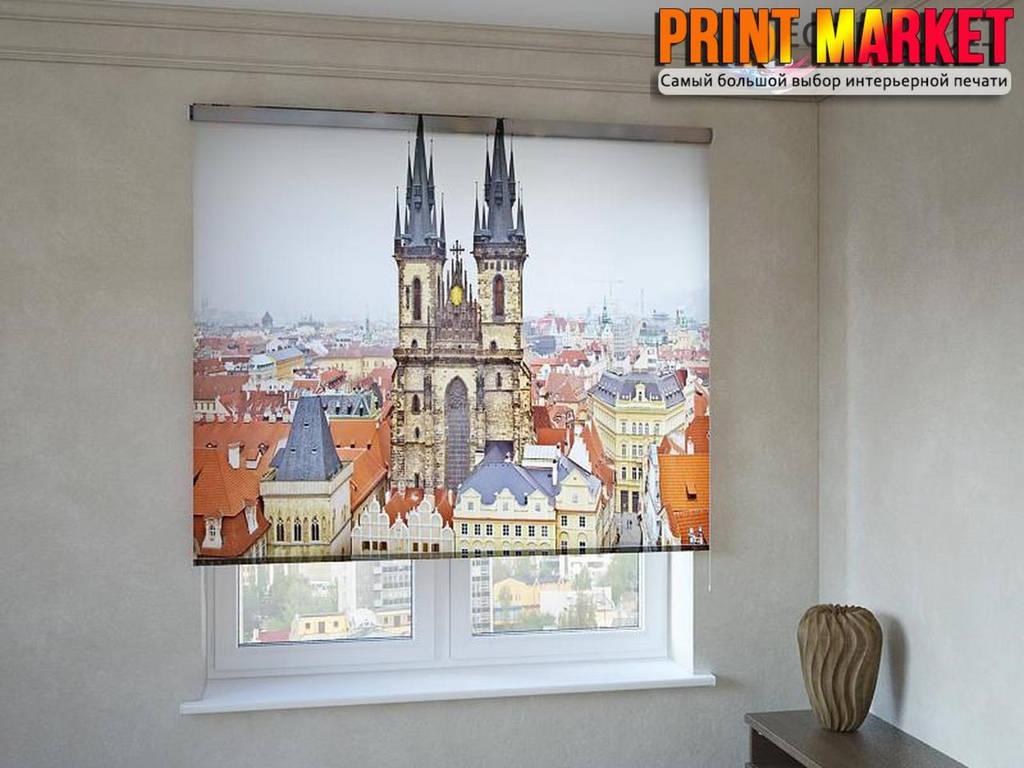 Рулонные шторы с фотопечатью башни