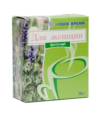 """Чай травяной для женщин, при мастопатии, нарушении менструального цикла """"Для женщин"""" Новое время, сбор 75 г"""