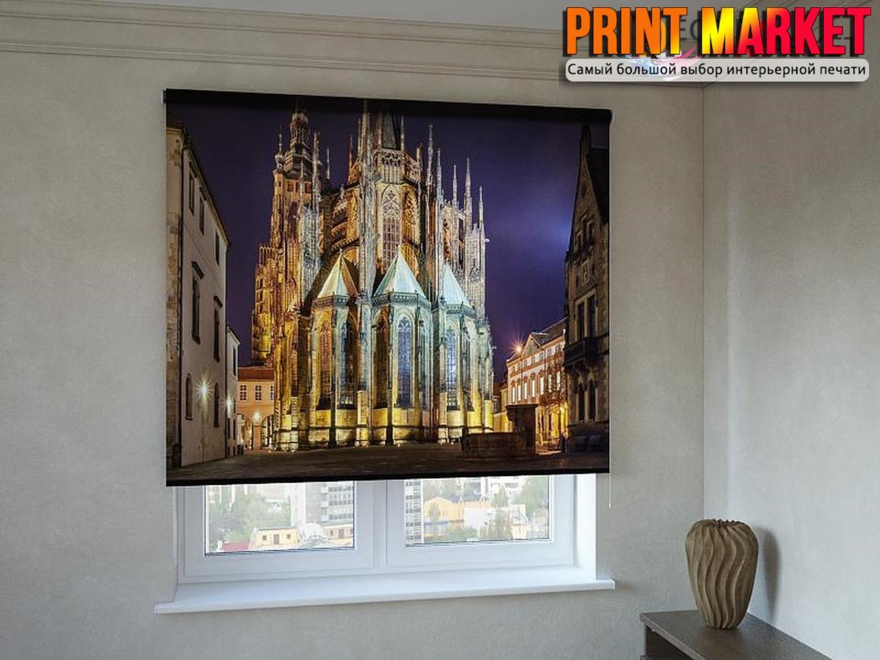 Рулонные шторы с фотопечатью храм