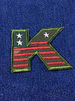 Нашивка буква K