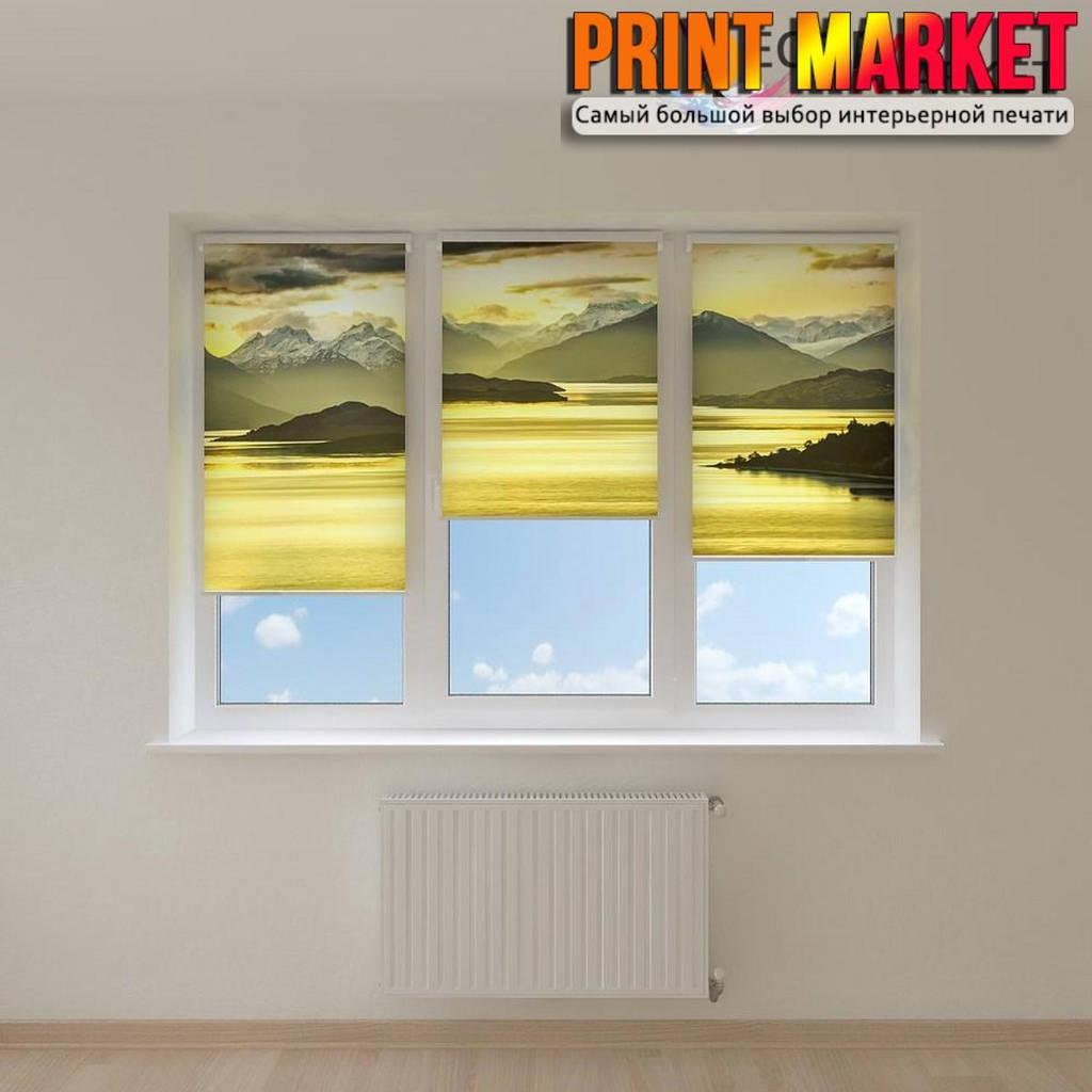 Рулонные шторы с фотопечатью закат