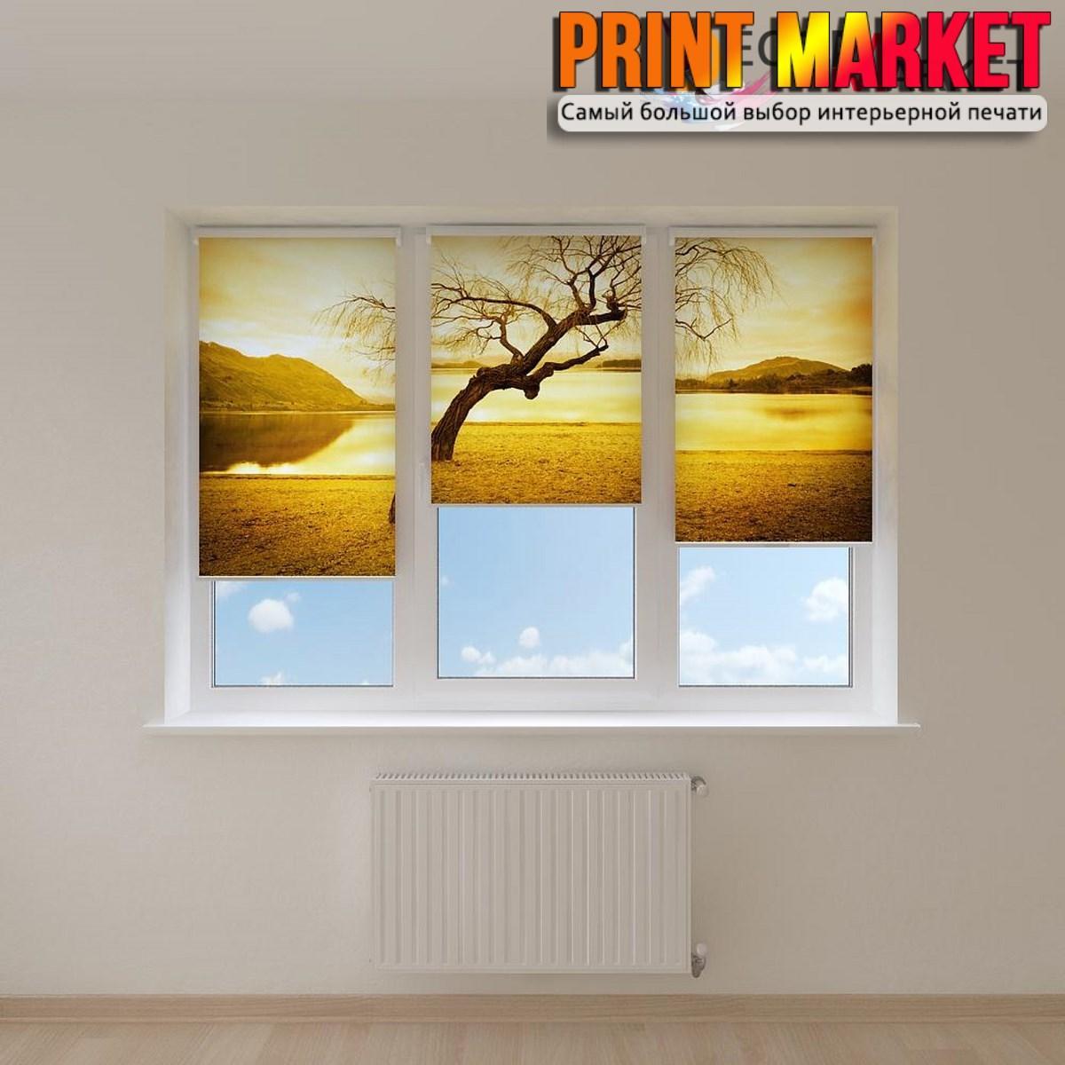 Рулонные шторы с фотопечатью дерево