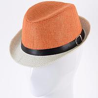 Двухцветная детская шляпа челентанка из коттона