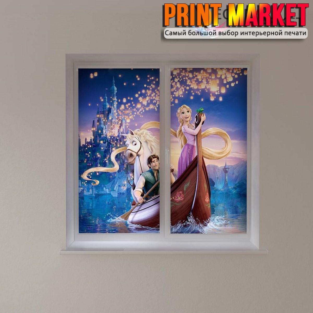 Рулонные шторы с фотопечатью Рапунсель