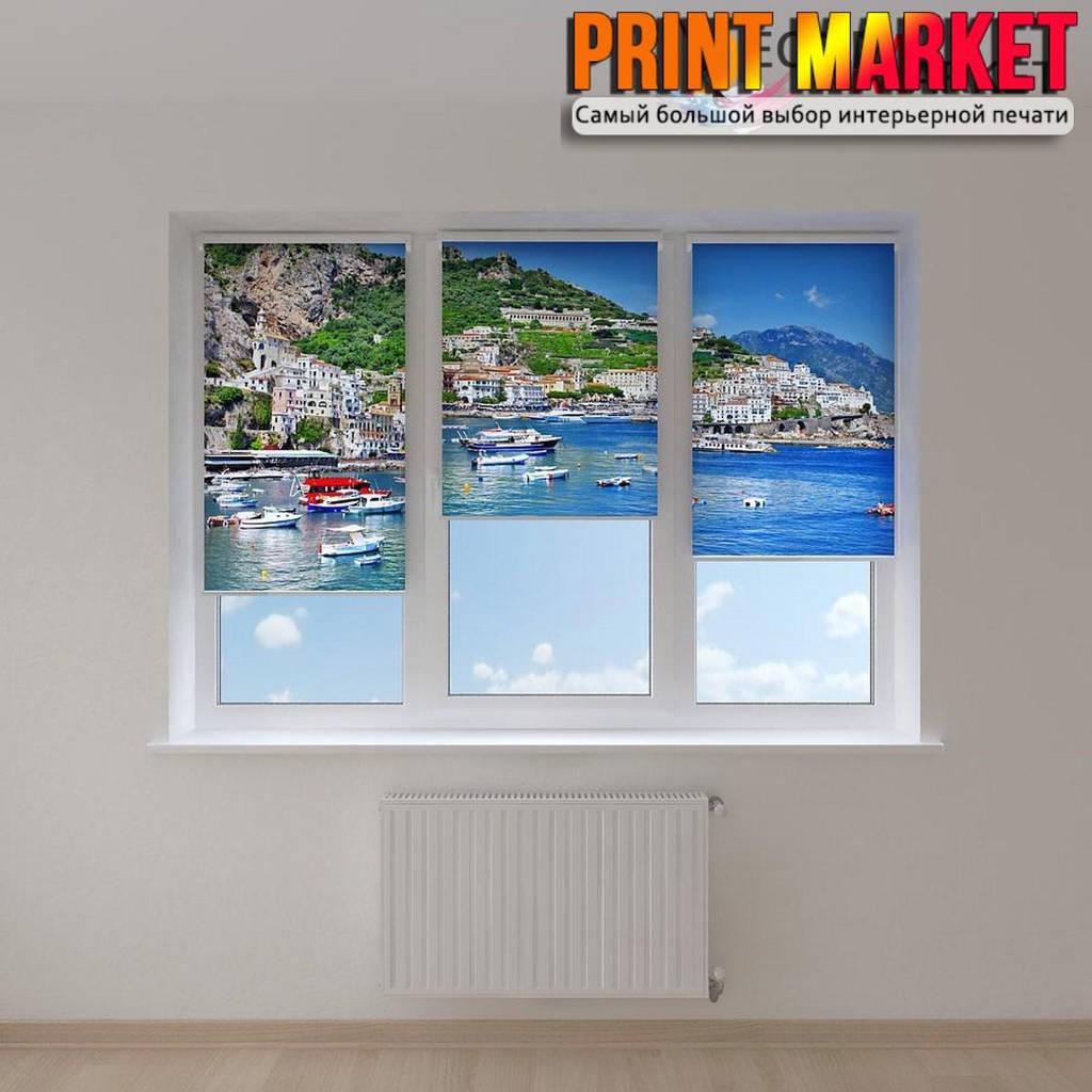 Рулонные шторы с фотопечатью побережье Италии