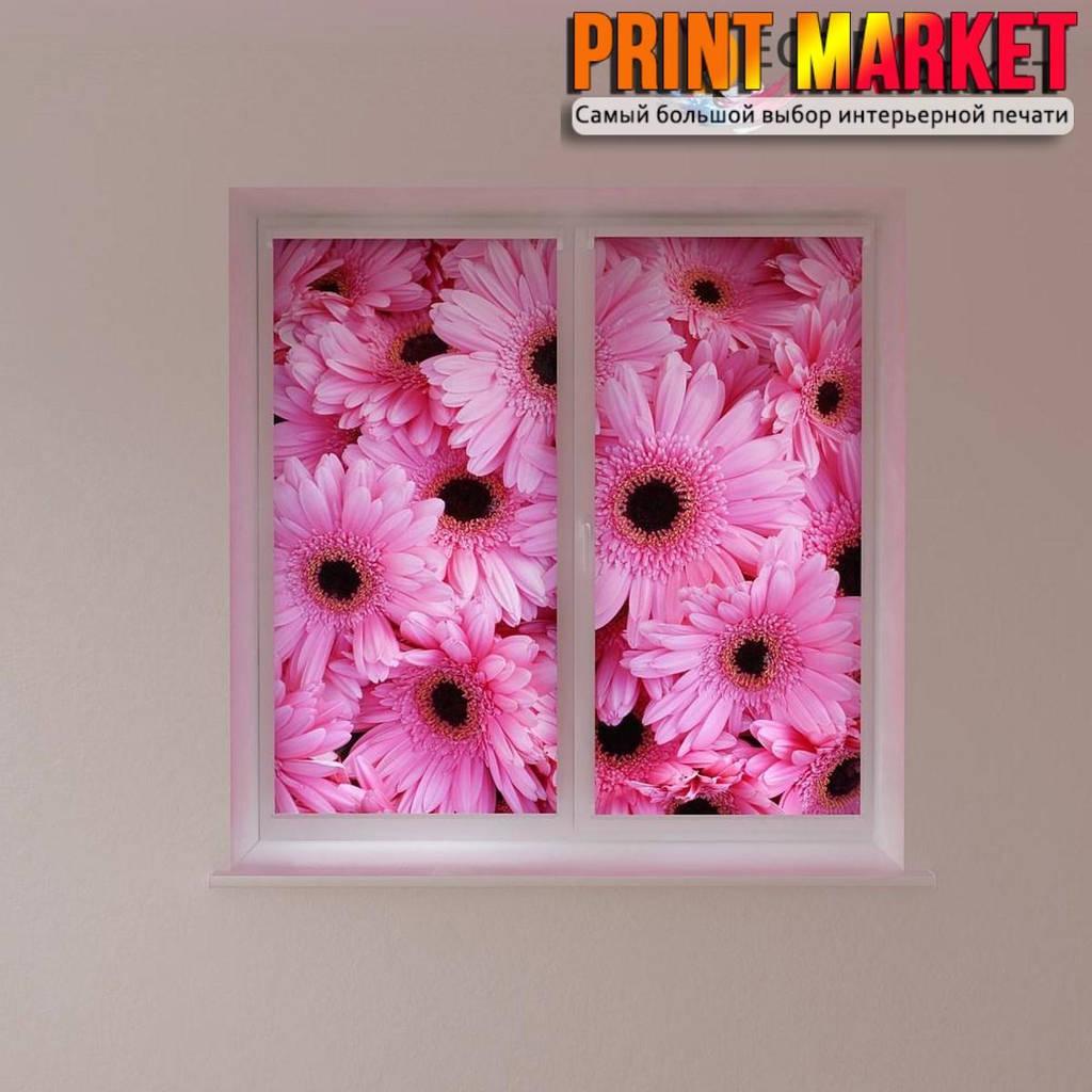 Рулонные шторы с фотопечатью герберы