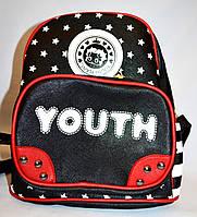 Рюкзак из искусственной кожи Youth 20*25 черный