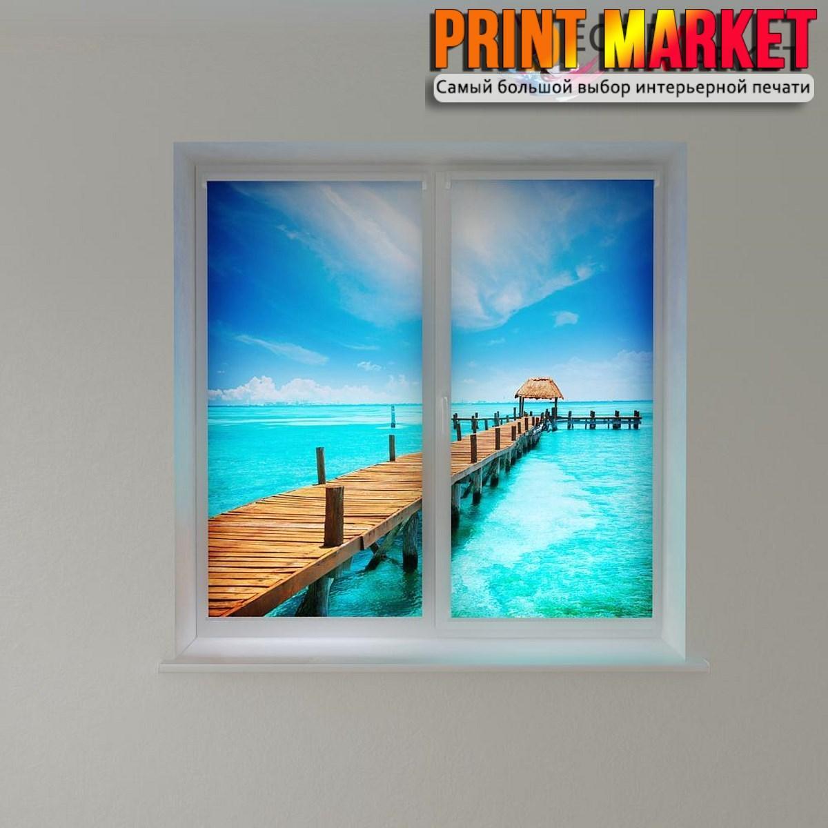 Рулонные шторы с фотопечатью Мальдивы