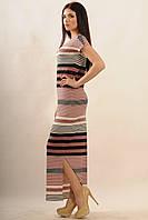 Длинное трикотажное платье в полоску Raduga 42–52р. в расцветках