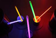 Неоновые светящиеся браслеты,light stick, glow stick, 100 шт. Неоновые светящиеся палочки