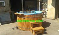 Офуро японская баня фурако с чашей из полипропилена и обшивкой из дуба или термодерево. , фото 1