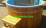 Офуро японская баня фурако с чашей из полипропилена и обшивкой из дуба или термодерево. , фото 5