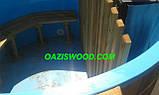 Офуро японская баня фурако с чашей из полипропилена и обшивкой из дуба или термодерево. , фото 6